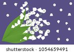 lily of the valley. vector... | Shutterstock .eps vector #1054659491