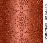 terra cotta monochrome 3d... | Shutterstock .eps vector #1054663271
