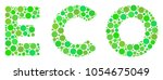 eco text collage of filled... | Shutterstock .eps vector #1054675049