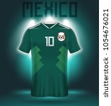 mexico soccer jersey or team...   Shutterstock .eps vector #1054676021