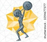 crossfit concept. vector... | Shutterstock .eps vector #1054677377