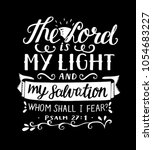 Hand Lettering The Lord Is My...