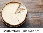 new york cheesecake or classic... | Shutterstock . vector #1054685774