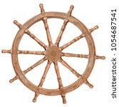 old ship steering wheel... | Shutterstock . vector #1054687541