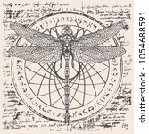illustration of a dragonfly on...