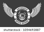 skull in helmet and glasses...   Shutterstock .eps vector #1054692887