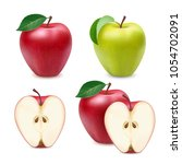 red and green apples isolated... | Shutterstock .eps vector #1054702091