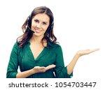 portrait of happy smiling... | Shutterstock . vector #1054703447