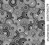 Seamless background  Eastern style black on white. Arabic  Pattern. Mandala ornament. Elements of flowers and leaves. Vector illustration. Use for wallpaper, print packaging paper, textiles.