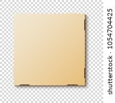 mock up pizza box packaging... | Shutterstock .eps vector #1054704425