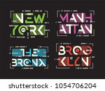 new york brooklyn the bronx... | Shutterstock .eps vector #1054706204