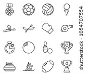 flat vector icon set   medal... | Shutterstock .eps vector #1054707554