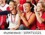 extensive series of a crowd of... | Shutterstock . vector #1054711121