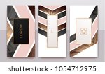 gold  rose gold  black and... | Shutterstock .eps vector #1054712975