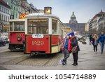 prague  czech republic   march... | Shutterstock . vector #1054714889
