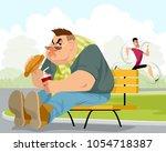vector illustration of a fat...   Shutterstock .eps vector #1054718387