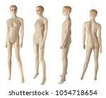 female mannequin portrait... | Shutterstock . vector #1054718654