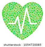 cardiology collage of filled... | Shutterstock .eps vector #1054720085