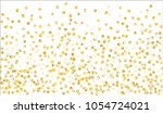 big gold confetti. texture with ... | Shutterstock .eps vector #1054724021