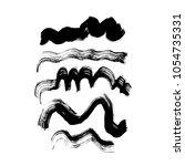 brush set black | Shutterstock .eps vector #1054735331