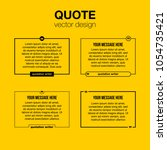 innovative set vector quotation ... | Shutterstock .eps vector #1054735421