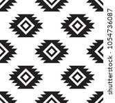 seamless tribal black and white ... | Shutterstock .eps vector #1054736087
