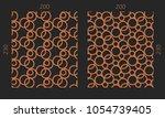laser cutting set. woodcut...   Shutterstock .eps vector #1054739405