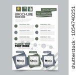 a4 size flyer template.... | Shutterstock .eps vector #1054740251