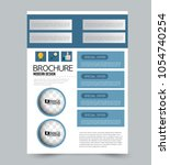 a4 size flyer template.... | Shutterstock .eps vector #1054740254