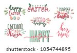 happy easter colorful hand... | Shutterstock .eps vector #1054744895