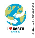 earth day april 22 illustration.... | Shutterstock .eps vector #1054746404