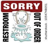 an image of a broken toilet... | Shutterstock .eps vector #1054748051
