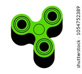 fidget spinner sign. vector.... | Shutterstock .eps vector #1054752389