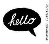 hello quote message bubble.... | Shutterstock .eps vector #1054752734