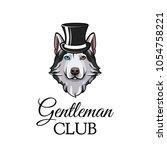 siberian husky. top head. dog... | Shutterstock .eps vector #1054758221