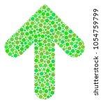 arrow up mosaic of circle... | Shutterstock .eps vector #1054759799