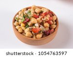 isolated chola chana chaat in...   Shutterstock . vector #1054763597