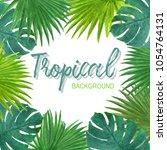 tropical background summer...   Shutterstock . vector #1054764131