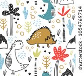 childish seamless pattern with... | Shutterstock .eps vector #1054769714