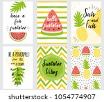 set of bright summer banners... | Shutterstock .eps vector #1054774907