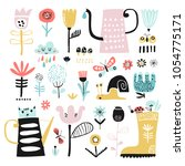 vector set of children's... | Shutterstock .eps vector #1054775171