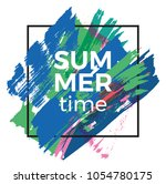 summer time vector poster... | Shutterstock .eps vector #1054780175