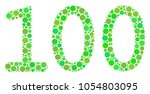 100 text composition of circle... | Shutterstock .eps vector #1054803095