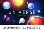 space shining backgrouns with... | Shutterstock .eps vector #1054808771