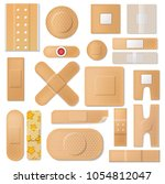 bandage vector plaster medical... | Shutterstock .eps vector #1054812047