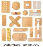 bandage vector plaster medical... | Shutterstock .eps vector #1054812047