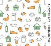 vector seamless pattern with... | Shutterstock .eps vector #1054813241