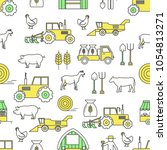 vector seamless pattern with... | Shutterstock .eps vector #1054813271