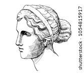 venus  the ancient greek... | Shutterstock .eps vector #1054815917