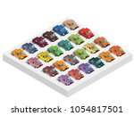 illustration of color 3d... | Shutterstock .eps vector #1054817501